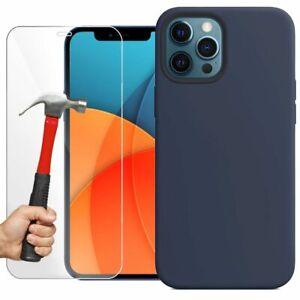 Coque Protection + Verre Trempé Ecran iPhone 13 Pro Max 12 11 XS XR SE 8 7 6