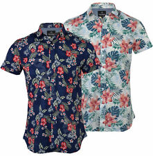 Collared Floral Hawaiian Casual Shirts & Tops for Men
