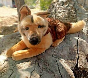 """Steiff German Shepherd Puppy 27"""" x 12"""" AKC American Kennel Club  Dog Plush"""
