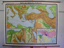 Scheda crocifissi bibbia vecchio testamento Palestina 183x148cm HOLY BIBLE VINTAGE MAP