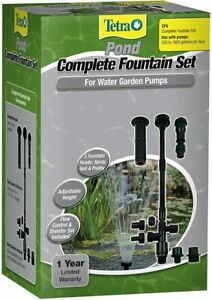 Tetra Pond 19731 Large Pond Pump Fountain Set | 3 Patterns, Bell, Spray, Frothy