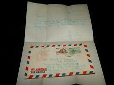 Vintage Cover, LIMA,PERU,1950,Multi-Stamped w/Letter To Romulus, NY, Meter Strip