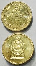 Sri Lanka 1  Rupee 2011 20mm copper plated steel coin AU 1pcs