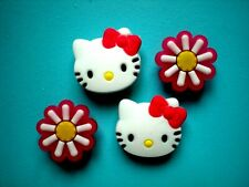 Shoe Plug Charm Hello Kitty Compatible With Croc Holes And Fit Jibbitz WristBand