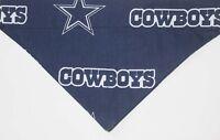 Football dog bandana Dallas Cowboys over the collar Dog scarf /  Blue Bandana