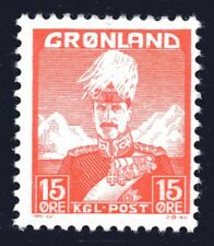 Greenland 1938 15 Ore King Christian X Mint Unhinged