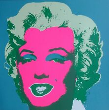 "ANDY WARHOL MARILYN MONROE SUNDAY B.MORNING Silk-screen 11.30 with COA 36""x36"""