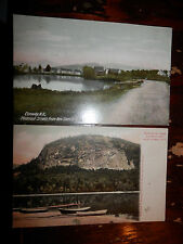 CONWAY NH - 2 RARE Postcards - PLEASANT STREET - WHITE HORSE LODGE and ECHO LAKE