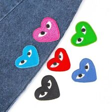 Heart Eyes Iron- On Patch Embroidered Badge Kids Hearts Sticker Motif Applique