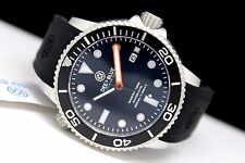 New Deep Blue Master 1000 Automatic Black Orange Sapphire Crystal Mens Watch