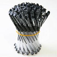 Pack 7/12 BLACK GEL INK PENS-Smooth Flow Ink. Handwriting Home School or Office