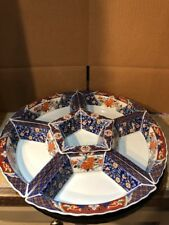 Vintage Chinese Asian Japanese Porcelain Server Snack Relish Dish 8 Piece Set