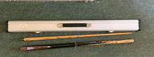 Riley Snooker Cue In  Silver Fox Case Signed By Professional Snooker Players.