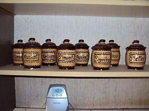 GewürzSet Keramik 8 Teilig