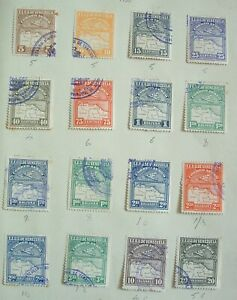 VENEZUELA 1930 Air SG 395 onwards fine used group of 16 stamps check scans