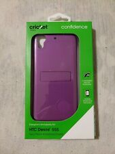Purple HTC Desire 555 case 2 Piece Kickstand Shield Case & screen protector.