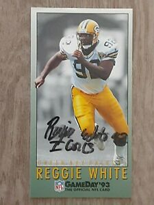 REGGIE WHITE AUTOGRAPHED SIGNED 1993 GAMEDAY GREEN BAY PACKERS FOOTBALL CARD