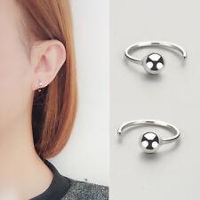 """Damen Ohrhänger """"C""""-Form Kugel echt Sterling Silber 925 Kleine Ohrringe"""
