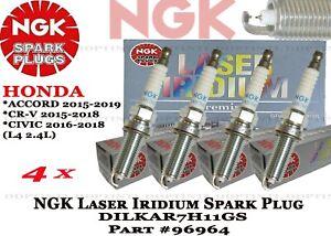 4 x NGK Laser Iridium Spark Plugs #96964 For Honda Accord CR-V Civic 2013-2018