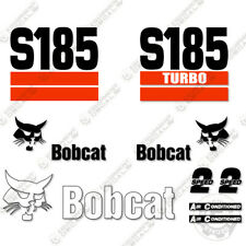 Bobcat S185 Decal Kit Skid Steer Decals Replacement Stickers (2 Stripe)