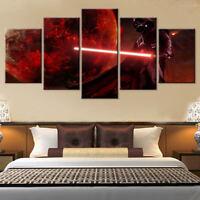 Framed Home Decor Canvas Print Painting Wall Art Darth Vader Star Wars Red