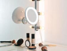 Rasier  & Kosmetikspiegel, Ø 17,5 cm, 5 fach, 25 LEDs, 360° Saugnapf
