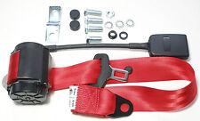 Rosso cintura di sicurezza FIAT 124 Spider, 1500 Cabrio, Alfa Romeo, Red SEATBELT