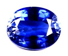 AAA Ceylon 10.00 Ct Natural Blue Sapphire Oval Cut Loose Gemstone Certifed A1279