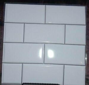 3D Peel & Stick White Subway Tile Backsplash!! 6sqft