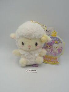"Nemu Nemu Fluffy Country Sheep B2405 Amuse 4"" Mascot Plush TAG Toy Doll Japan"