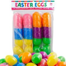 Plastic Easter Eggs Shelf Epty for Fill Present Kind Suprise 24 pack New