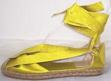 JEAN PAUL GAULTIER Gold Leather Espadrille Sandals Shoes 7