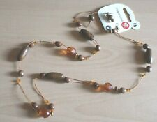 MY ACCESSORIES LADIES WOOD BEAD NECKLACE & MATCHING EARING SET BRAND NEW