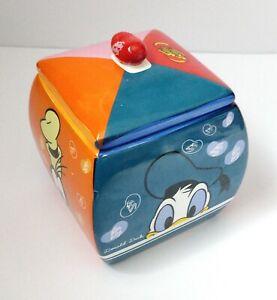 Disney | Jelly Belly Ceramic Jar With Lid | Mickey Minnie Donald Goofy