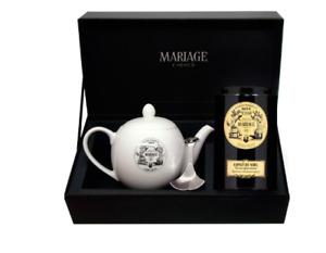 Mariage Freres - DÉGUSTATEUR™ teapot & tea caddy spoon set ESPRIT DE NOËL