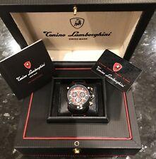 Tonino Lamborghini Model TL3202 Black PVD Carbon Shield Chronograph Spyder Watch
