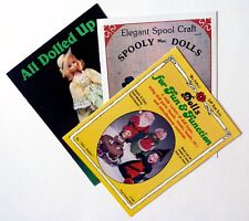 Doll Making Instructions - Lot of 3 Vintage Books - Various Doll Designs