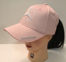NIB Mercedes Benz With Logo Pink Hat Cap Adjustable