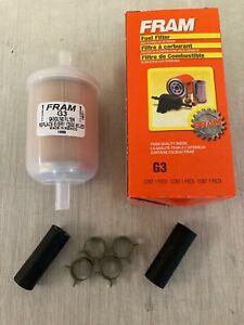 """""""NEW DESIGN"""" Fram G3 3/8"""" Plastic Inline Gas/Fuel Filter fits 33003 3003 GF69PL"""