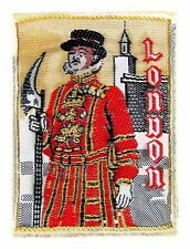 ANCIEN ECUSSON VILLE BLASON BRODE EMBROIDERED PATCH AUTOCOLLANT LONDON LONDRES