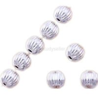 100 pcs silver plated spacer beads Jewelry making charms findings 6mm Free ship