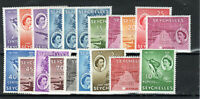 Seychelles 1954-61 set to 10r + shade MLH/MH