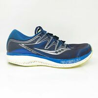 Saucony Mens Hurricane ISO 5 S20460-2 Blue Running Shoes Lace Up Low Top Size 11