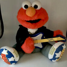 Rock N Roll Elmo Animated Plush Guitar Vintage 1998 Tyco Sesame Street Tested!