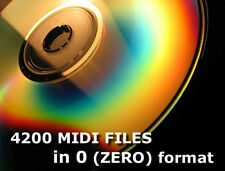 Formato di file Midi 4200 0 ZERO su CD per SD & USB MIDI PLAYER Pianoforte Classico Pop