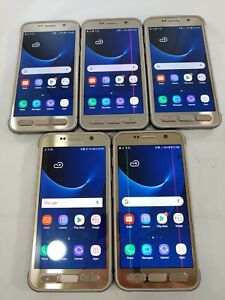 LOT of 5 Samsung Galaxy S7 Active G891A GSM Unlocked Smartphone Gold  #919