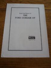 FORD CONSUL CORSAIR GT ROAD TEST  CAR BROCHURE
