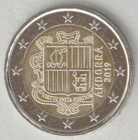 2 Euro Kursmünze Andorra 2019 unz