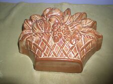 BASKET OF FRUITS SHAPED EARTHENWARE MOULD / WALL HANGING