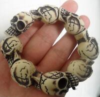 S006 personality resin skull heads elasticity bracelets lovely gift